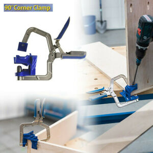 Woodworking-90-Corner-Clamp-Blue-Works-on-90-Corners-and-T-Joints-Tool