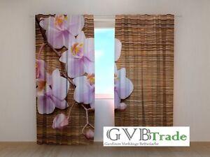 "Home & Garden Fotogardinen ""orchideen"" Fotovorhang Vorhang Gardinen 3d Qualität Fotodruck Relieving Rheumatism Curtains, Drapes & Valances"