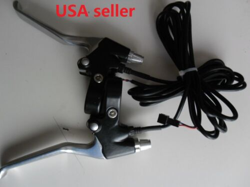 """Scooter brake Levers 73/"""" wire 2P Alloy pair IN USA 24V //36V //48V Electric bike"""