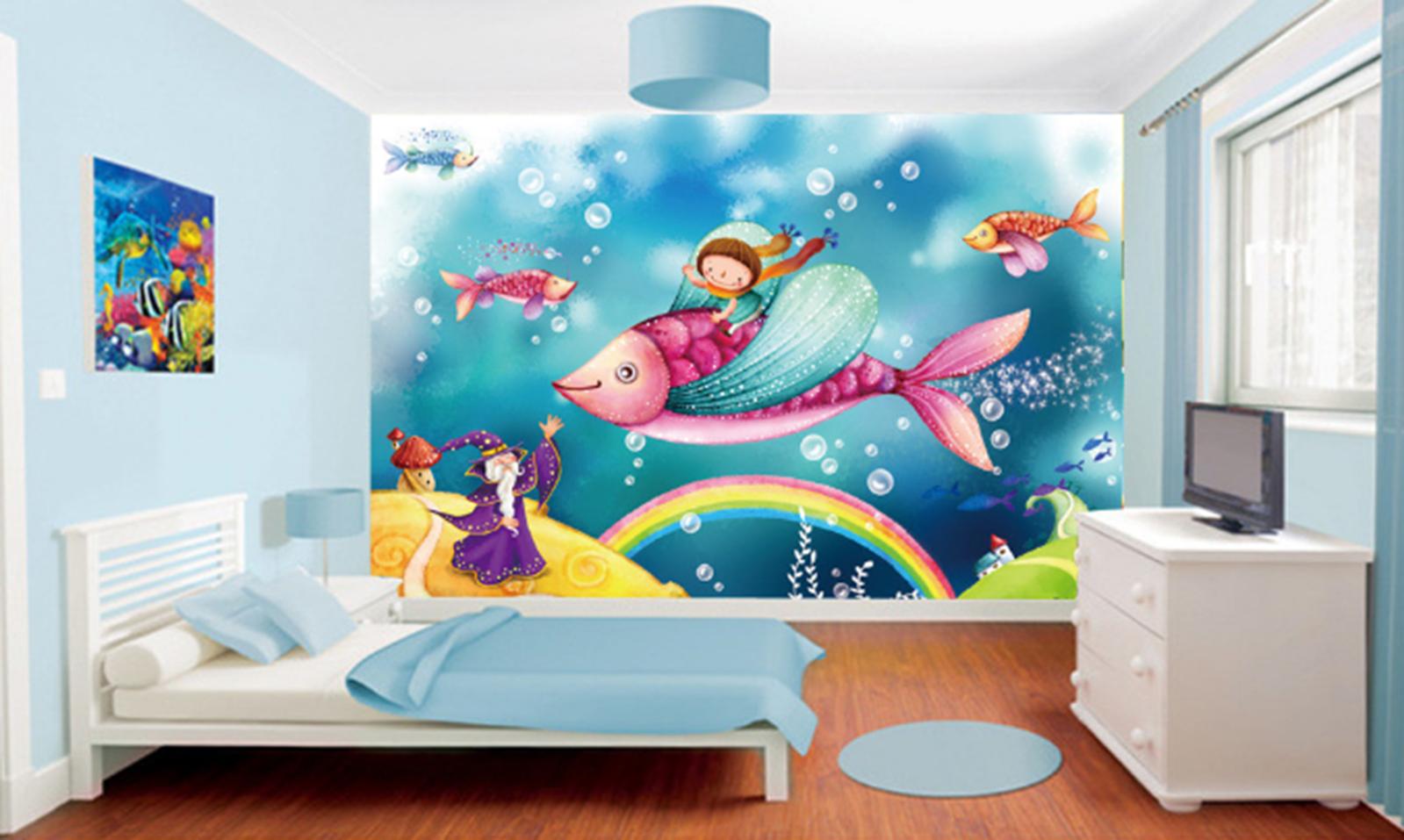 3D Sea Fish Bubble 83 Wallpaper Mural Paper Wall Print Wallpaper Murals UK Kyra