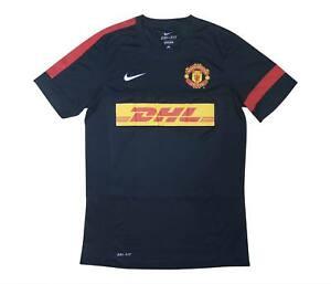 Manchester United 2012-13 originale camicia di formazione (eccellente) M SOCCER JERSEY
