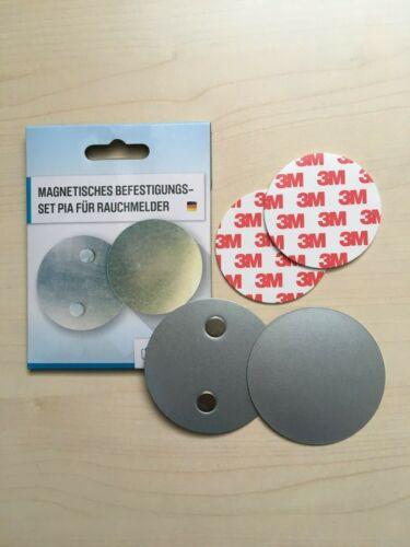 Magnetbefestigung für Rauchmelder Magnethalter Magnet 3M Klebefläche Brandmelder