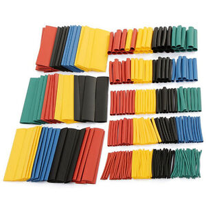 328 Pcs 5 Colors 8 Sizes Assorted 2:1 Heat Shrink Tubing Wrap Sleeve Kit top M&C 663890876775
