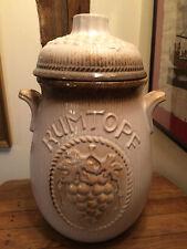 Vintage West Germany RUMTOPF Preserving Storage Jar 801-28 Instructions Included