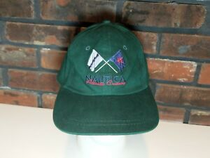 09af05f36a0 Nautica Spell Out Flag Racing Logo Dad Baseball Hat Cap VTG 90s ...