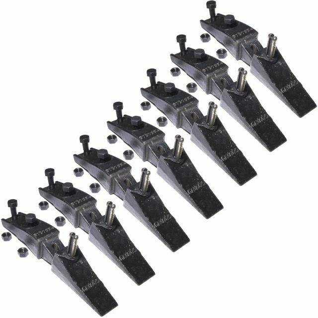 Titan Attachments 6737322Y 7 Bucket Bobcat Style Bolt On Flush Mount Teeth Assembly for sale online