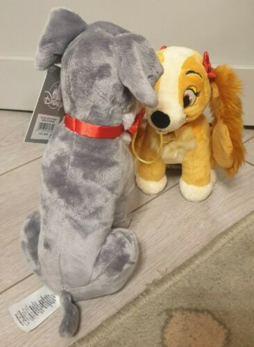 Peluche SC SET LADY /& TRAMP Belle Et Clochard Disneyland Paris