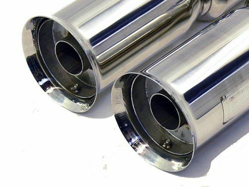 OBX Universal Stainless Steel Dual Bazooka Style Muffler w// Flared Tips