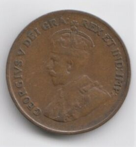 1925 CANADIAN SMALL CENT   VG