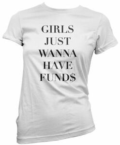 b31bf6bdf Image is loading Girls-Just-Wanna-Have-Funds-Cool-Retro-Women-