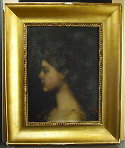 Lucien-Renout-Profile-Of-Young-Woman-c1880-IN-The-Taste-Of-J-Henner-Hsp-Paint