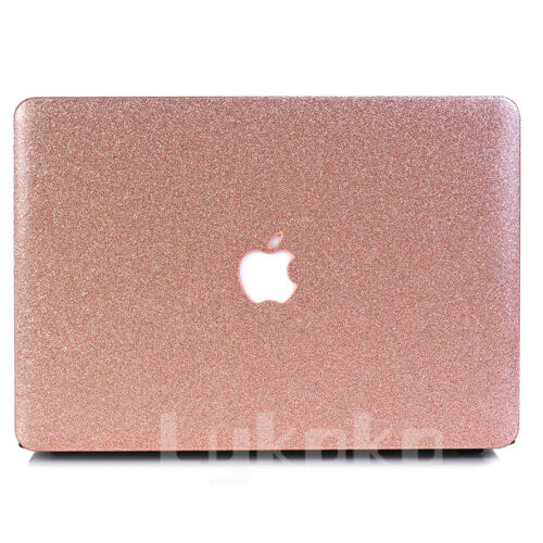 """Glitter Bling Rose Gold Shiny Hard Case Cover for MacBook AIR PRO 11/"""" 13/""""+Retina"""