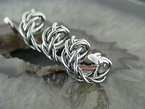 Bartschmuck Bartring Bartcreole Bartspirale Celtic Silber 925 Keltischer ZOPF