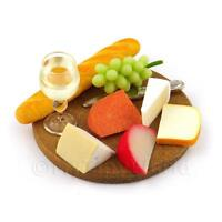Dolls House Miniature Large Cheese Board Selection