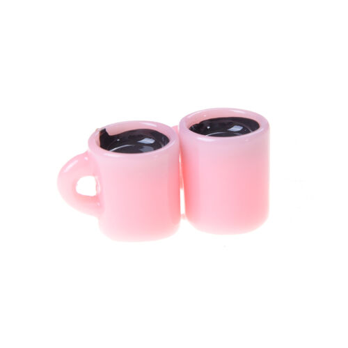 4x Miniatur Puppenhaus Kaffeetasse Küche Zimmer Essen Trinken Dekoration BCDE