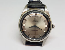 VERY RARE LARGE VINTAGE OMEGA SEAMASTER SILVER DIAL AUTOMATIC MAN'S WATCH