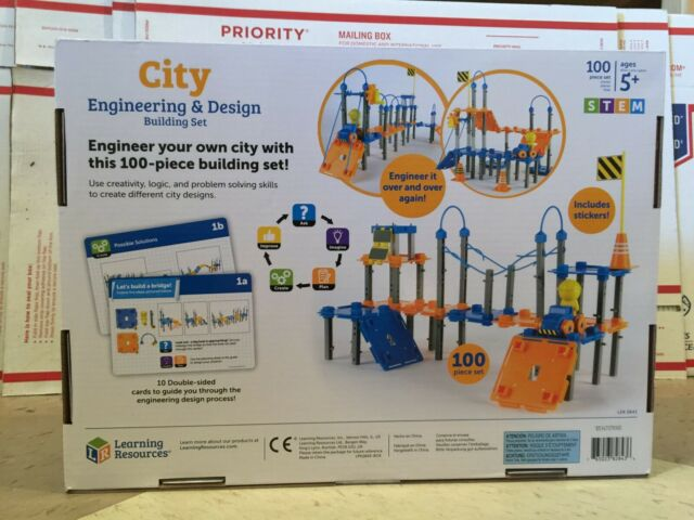 100 Pieces Learning Resources City Engineering and Design Building Set