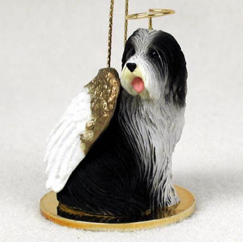 Bearded Collie Ornament Angel Figurine Hand Painted