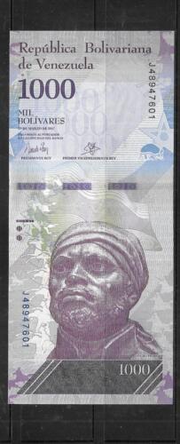 VENEZUELA  2017 1000 BOLIVARES UNC AAA BANKNOTE PAPER MONEY CURRENCY BILL NOTE