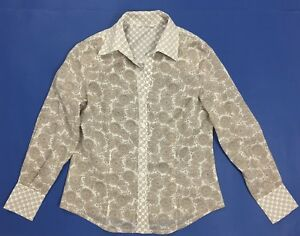 Glenfield-camicia-donna-estiva-corta-S-usato-top-camicetta-leggera-maglia-T861