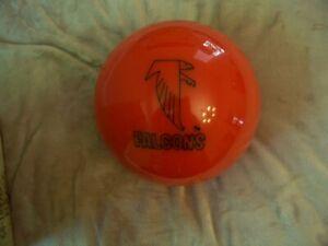 Vintage Brunswick Red & Black Atlanta Falcons Un-Drilled Bowling Ball 12.3 lbs.