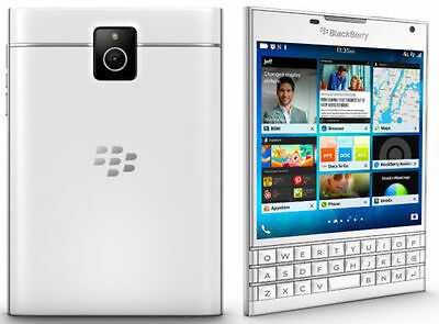 New Imported BlackBerry Passport 32GB 3GB White With English Arabic Keyboard