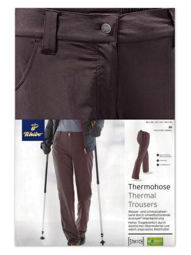 TCM Tchibo señora térmica outdoorhose trekking pantalones wanderhose invierno pantalones