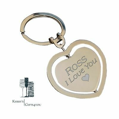 Personalised Valentines Day Gift For Her Him Wife Partner Heart Key Ring Ebay