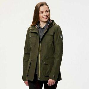Regatta-Nerine-Womens-Hooded-Waterproof-Breathable-Lined-Jacket-Green