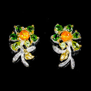 Shopping-jewelry-Natural-Orange-Opal-925-Sterling-Silver-Earrings-E32239