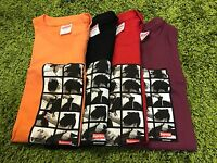 Supreme 2016 F/w Sumo Tee Box Logo Orange Black Red Burgundy M-xl