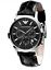 Emporio-Armani-Classic-Black-Leather-Silver-Quartz-Analog-Men-039-s-Watch-AR2447-USA miniature 1