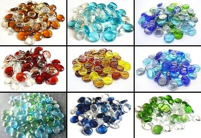 Minnelijk Glass Crystal Pebble/bead Mix 20mm Mosaic Memorial Home Garden 28 Mixes