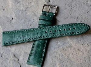 Tourneau-NY-stunning-Genuine-Ostrich-20mm-vintage-watch-strap-NOS-from-1960s-70s