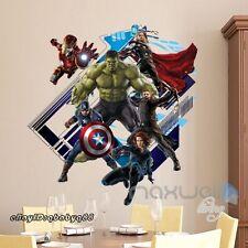 Avengers Super hero Iron man Green Hulk Wall Decal Sticker Boys Decor Art Mural