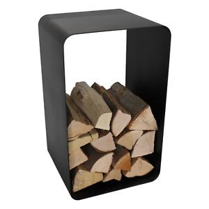 Süß GehäRtet Holzkorb O-form Stahl Schwarz Ständer Höhe 76 Cm Für Scheitholz Tiefe 40 Cm Klein- & Hängeaufbewahrung