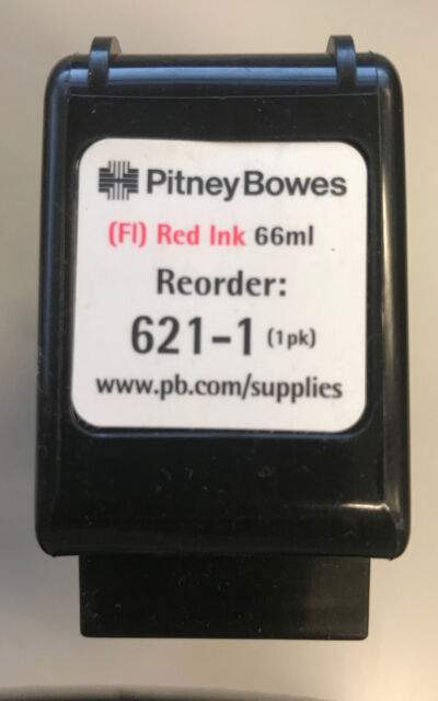 Pitney Bowes 621-1 Fluorescent Red Ink Cartridge DM400/DM500 Series