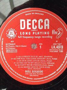 DIRK BOGARDE: LYRICS FOR LOVERS  Rare 1960 Decca LP LK4373 Eric Rogers Orch.