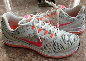 258058d95e9d Nike Dual Fusion Run 3 Women s White Pink Running Shoes Size 10 ...