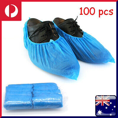 100Pcs Simple Disposable Anti Slip Shoe Covers Cleaning Protective Overshoes Lit