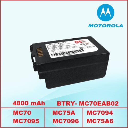 Motorola BTRY MC70EAB02 4800 mAh Ultra High Capacity Battery MC7596 MC75A0 MC75