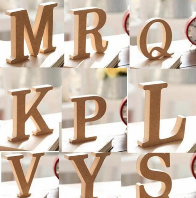 10x1.5cm (thick) Wood Wooden Letters Alphabet Wedding Birthday Home Decor BUUS