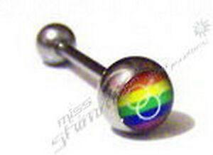 GAY-PRIDE-LOGO-TONGUE-BAR-MALE-6mm-RAINBOW-BARBELL