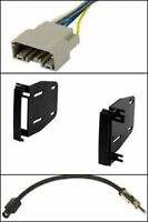 D Din Stereo Radio Install Mount Bracket Kit Wire Harness Ant Adapter Select Car