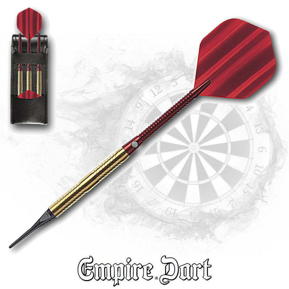 EMPIRE Dart Soft Darts Pfeile Dartpfeil Dartpfeile ROT Dust NEU 18 gr. 23L586