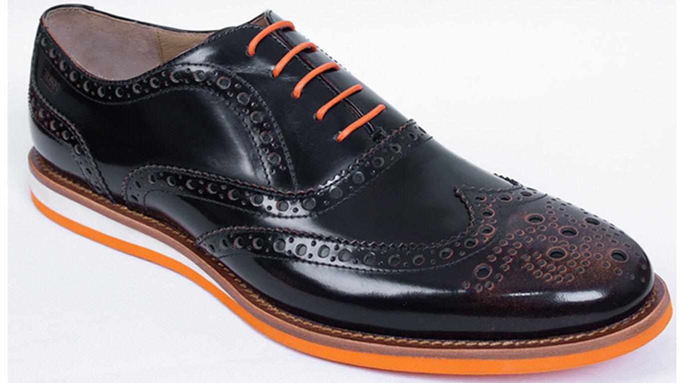 Hugo Boss Business Herrenschuhe Cabros 40 40 40 UK6 US7 dunkelbraun Leder Neu 74174e
