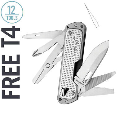Details about  /Leatherman Free T4 Stainless Steel 12 Tool Multi-Tool With Pocket Clip Used 849