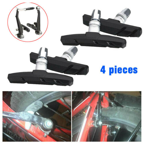 2 Pairs V Brake Blocks Pads Shoes For Cycle Bike Bicycle Mtb Mountain Cycling