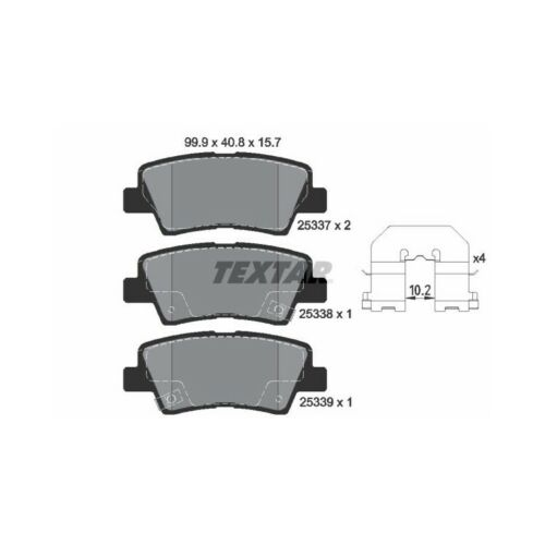 """Textar Bremsscheiben Bremsbeläge hinten Hyundai i40 1,6 1,7 2,0 mit 16/"""" Felgen"""