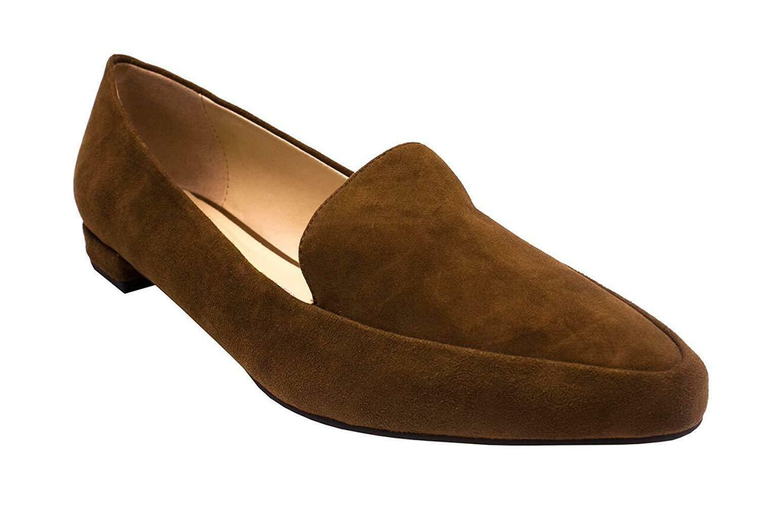 Isaac Mizrahi Live  Suede Saddle 'Maggie' Loafers with Heel Hardware Detail - 7W